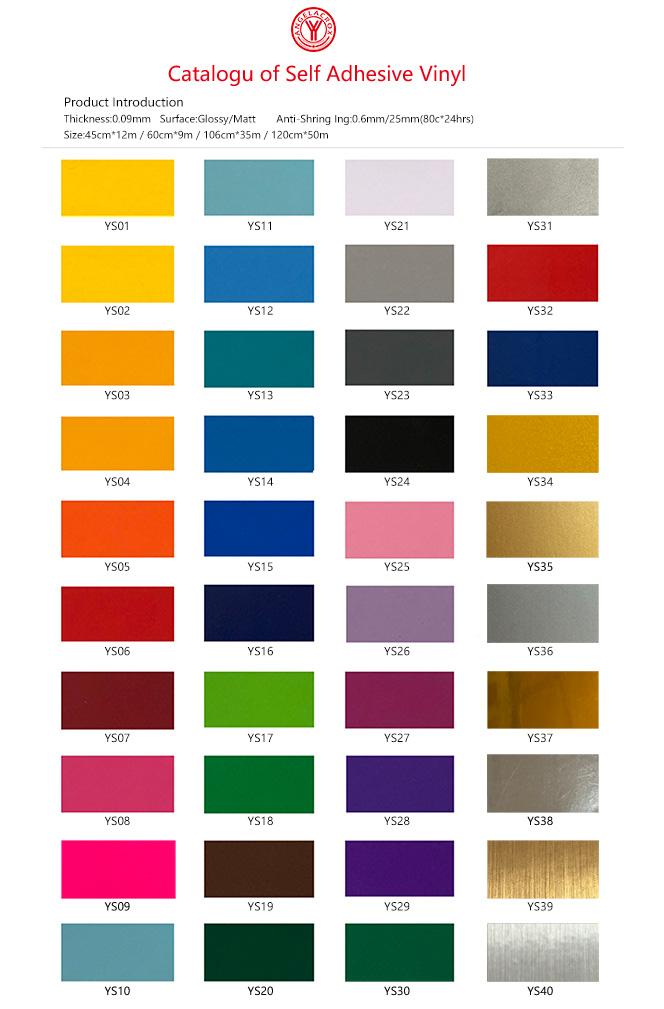 Catalogu of Self Adhesive Vinyl