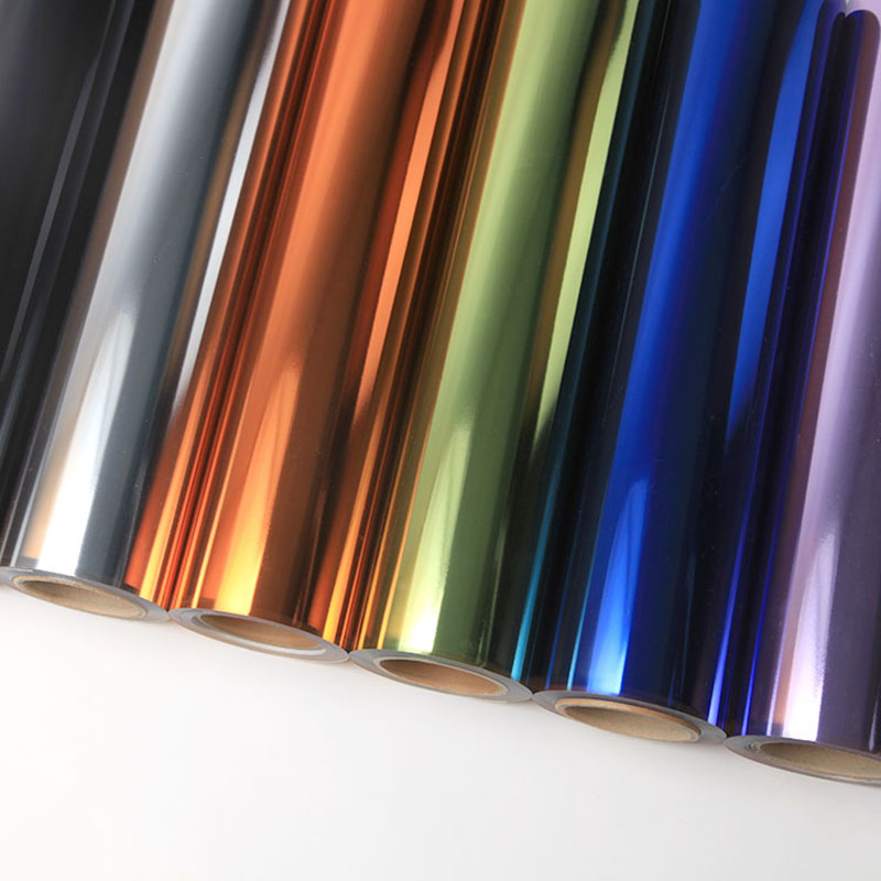 不同色彩的PET金属刻字膜